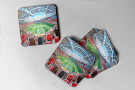 new york stadium Coaster set of four